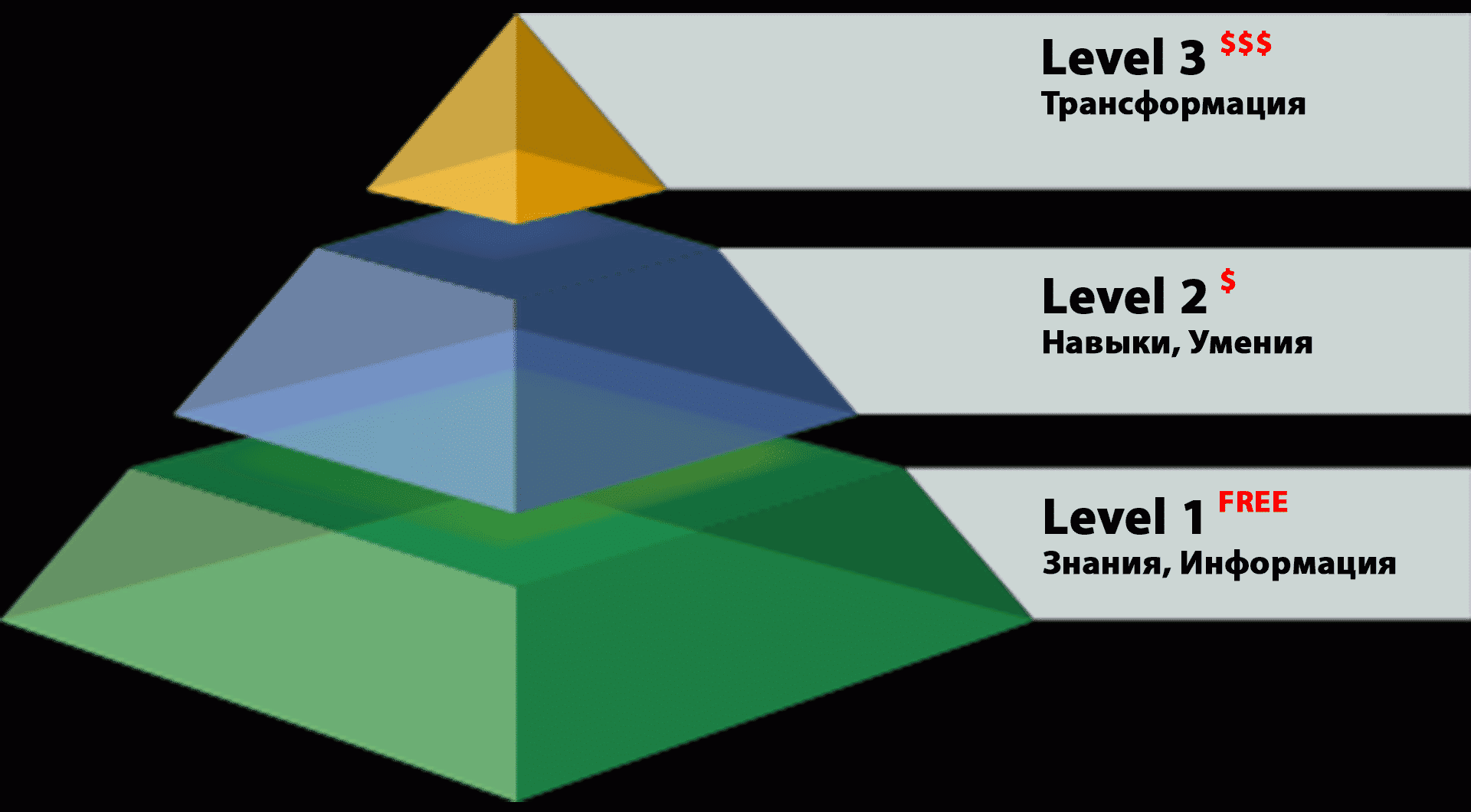Три уровня обучения