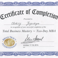 2014-10-17 Total Business Mastery (Two-Day MBA) by Brian Tracy International